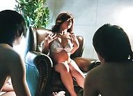 Suzanna strips her lingerie off and masturbates