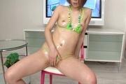 Curvy Teen Rina Yuuki In A Bikini Massaged To Orgasm Photo 10