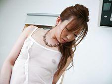 Yukina Momose-Lovely babe Yukina Momose caressing her boobies and her cherry Picture 2