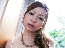 Yukina Momose-Lovely babe Yukina Momose caressing her boobies and her cherry Picture 4