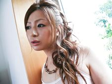 Yukina Momose-Lovely babe Yukina Momose caressing her boobies and her cherry Picture 8