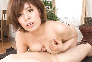 Ririsu Ayaka's milf japanese blowjob in POV