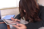 Hot Japanese milf goes dirty at work and sucks cock Photo 8