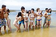 Hot outdoor group porn with smashing teens on fire  Photo 2