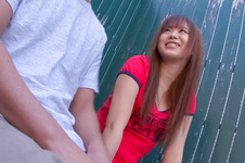 Noriko Kago-Pretty teenage chick sucking and stroking one hard cock and get screwed Picture 1
