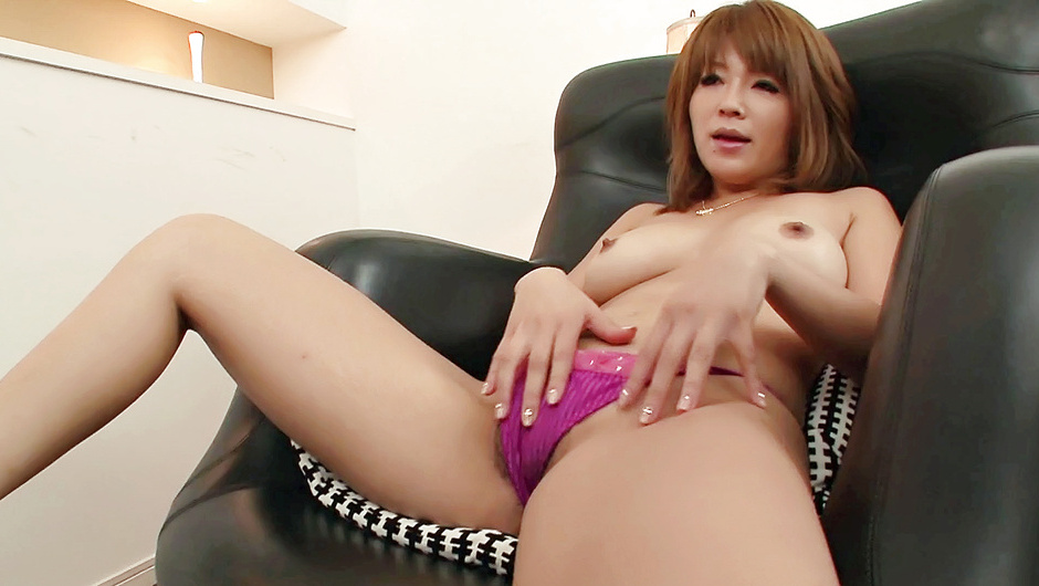 Pretty and eager Asian babe finger fucking and toying her hairy cunt