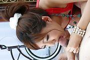 Mahiru Tsubaki opens her mouth for cock in asian POV Photo 12