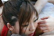 Mahiru Tsubaki opens her mouth for cock in asian POV Photo 6