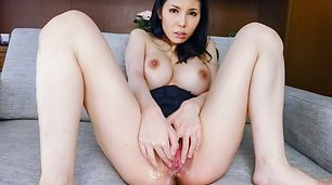 Hot Asian milf enjoys two cocks in raw threesome