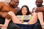 Asian milf tries black cocks in her tight holes Photo 4
