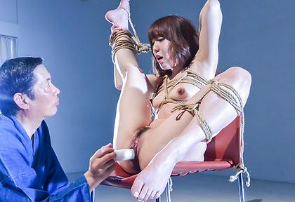 Sexy bondage session with Asian milfRina Uchimura