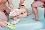 Hot Asian in sexy lingerie amazing group shagging  Photo 3