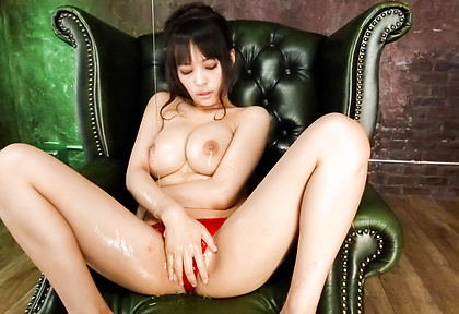 Kyouko Maki big tit asian fucks herself to an orgasm