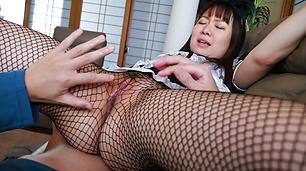 The right POV oral by Sakura Nozomi in home scenes