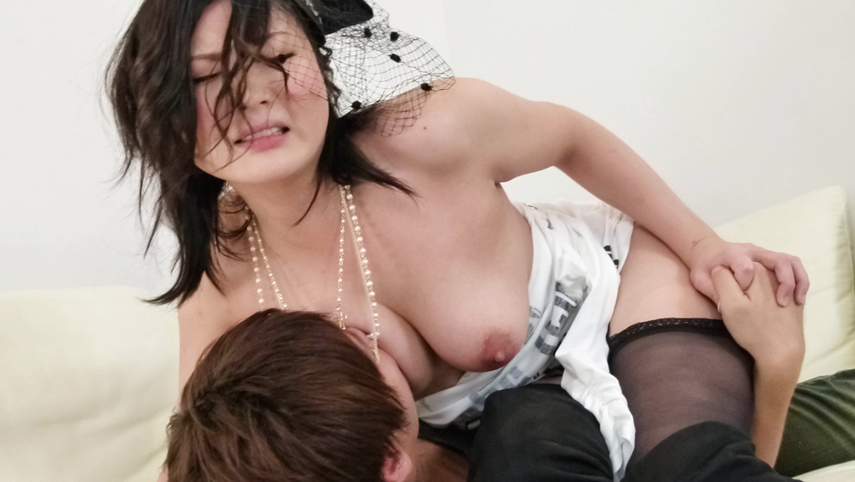 Hot Asian milf feels entire cock into her tiny love holes