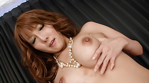 Oily MILF Yuna Hirose In Stockings Gives A Tit Fucking