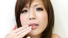 Mari Sasaki-Amateur with hot body Mari Sasaki tastes her pussy during petting play Picture 4