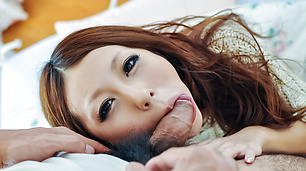 Sensual POV cock sucking experienc for hot Saki Kozakura