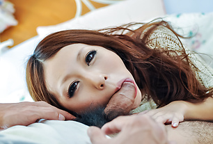 Sensual POV cock sucking experienc for hot Saki Kozakura
