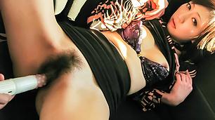 Naughty POV back seat oral porn with Serika Kawamoto
