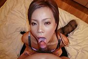 Sakiko gets her hairy Asian cunt fully demolished Photo 9