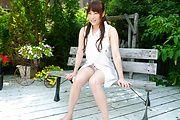 Yuri Sato Opens Her Pussy Lips In Public Photo 1
