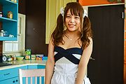Yuuka Kaede gets toys to stimulate her shaved pussy  Photo 2