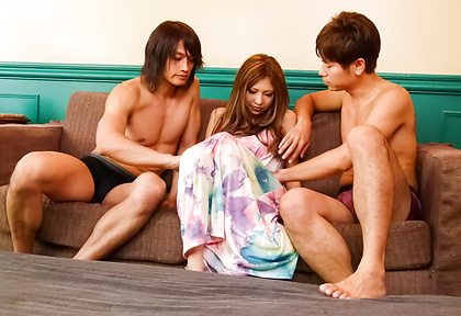 Miku Kohinata gets cream filled from group sex