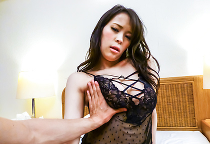 Big tits Kyouko Maki cock sucking in hot pov show