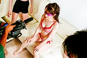 Asian lingerie model receives raw toy stimulation Photo 8