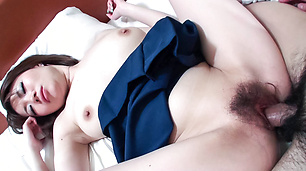 Asian amateur with big tits deals cock in hardcore