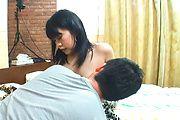 Riku Sena fingered and rides his dick in POV asian porn Photo 9
