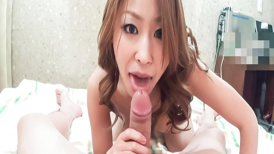 Miku Natsukawa riding in reverse cowgirl in asian POV