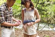 Sexy Japanese outdoor porn play with Maya Kawamura Photo 10
