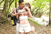 Sexy Japanese outdoor porn play with Maya Kawamura Photo 3