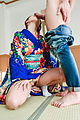 Asian milf spreads legs for cock at home  Photo 4
