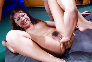 Superb Ryo Akanishi squirting during hard fucking