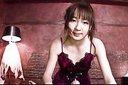 Hitomi Fujihara sucking and tit fucking in japanese POV Photo 2