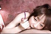 Hitomi Fujihara sucking and tit fucking in japanese POV Photo 6