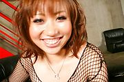 Hot MILF Neiro Suzuka Toy Fucked In A Fishnet Dress Photo 12