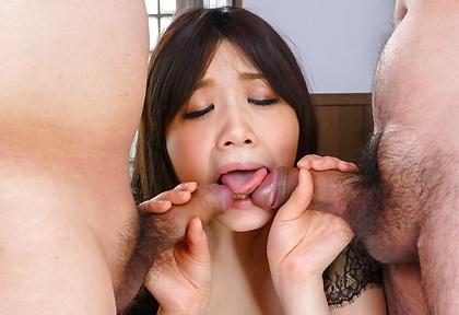 Asian blowjob at work by naughtyRie Tachikawa