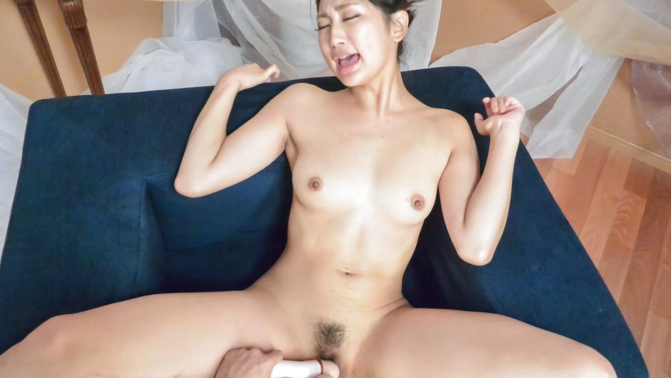 Sexy POv action along a peachy tits Asian wife