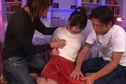 Everyone in the group enjoys Miyuki Nonomura's shaved pussy Photo 1