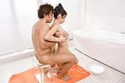 Big tits Asian woman sucks and fucks on the massage table  Photo 3