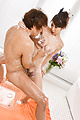 Big tits Asian woman sucks and fucks on the massage table  Photo 9