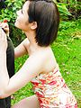 Japanese outdoor blowjob scenes withMinami Asano Photo 9