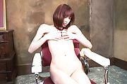 Skinny babe Ibuki fingers her shaved japanese pussy Photo 5