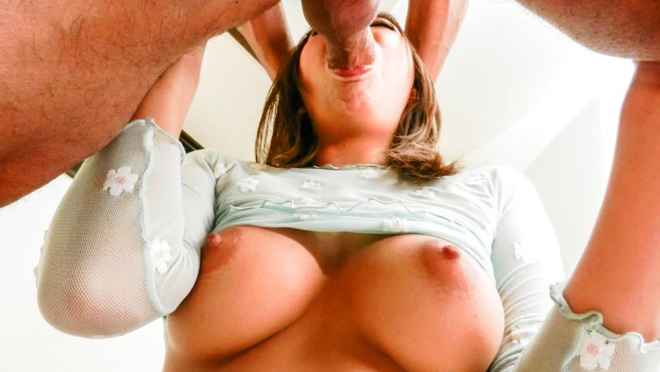 Big tits Japan woman sucks cock like a goddess