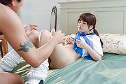 Minori Ichikawa gets teacher's dick to ruin her hairy Asian cunt  Photo 8