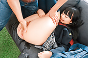 Teen gets older man to blast her shaved Japanese pussy Photo 9